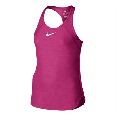 Nike Girls Slam Tennis Tank - Vivid Pink