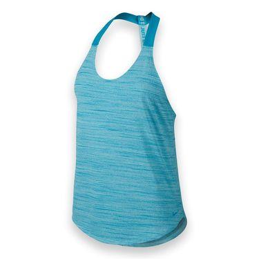 Nike Elastika Heathered Tank - Copa/Blue Lagoon