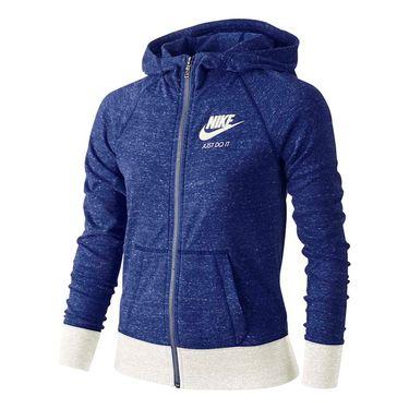 Nike Girls Gym Vintage Full Zip Hoodie - Comet Blue