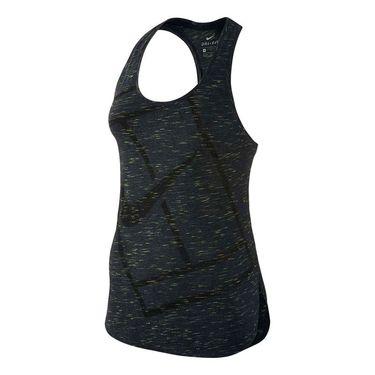 Nike Baseline Tank - Black/Volt