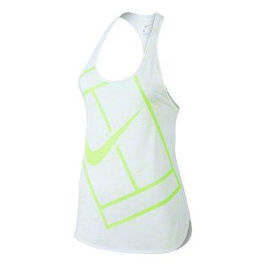 Nike Baseline Tank - White/Volt