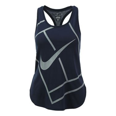 Nike Baseline Tank - Obsidian
