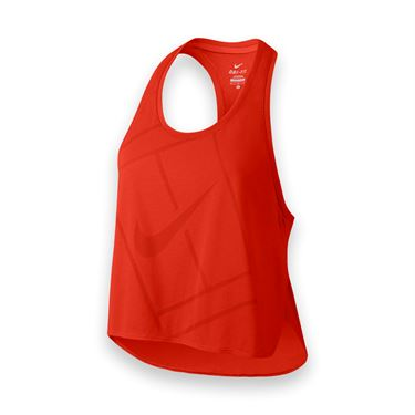 Nike Baseline Crop Tank - Lite Crimson