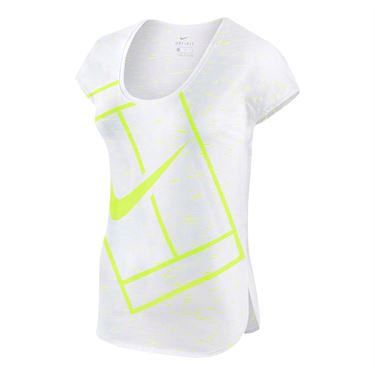 Nike Baseline Top - White/Volt