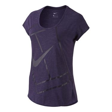 Nike Baseline Short Sleeve Top - Purple Dynasty