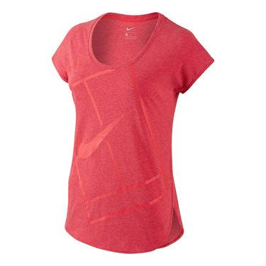 Nike Baseline Short Sleeve Top - Ember Glow