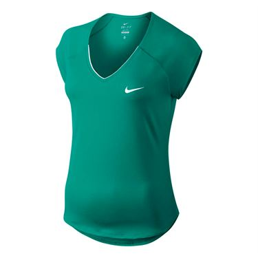 Nike Pure V Neck Top - Rio Teal
