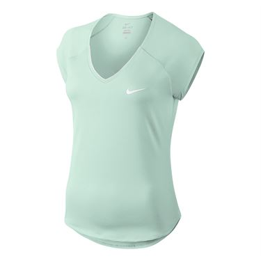 Nike Pure V Neck Top - Barely Green