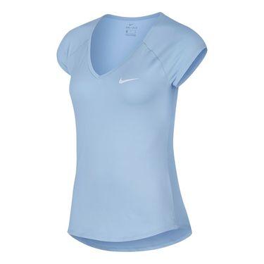 Nike Pure V Neck Top - Hydrogen Blue