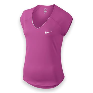 Nike Pure V Neck Top - Viola