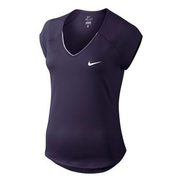 Nike Pure V Neck Top - Purple Dynasty