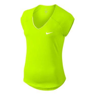 Nike Pure V Neck Top - Volt