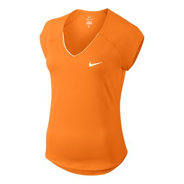 Nike Pure V Neck Top - Tart