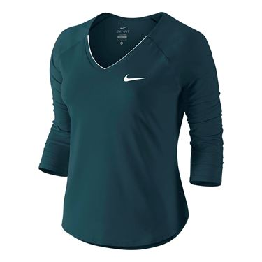Nike Pure 3/4 Sleeve Top - Midnight Turquoise