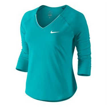 Nike Pure 3/4 Sleeve Top - Rio Teal