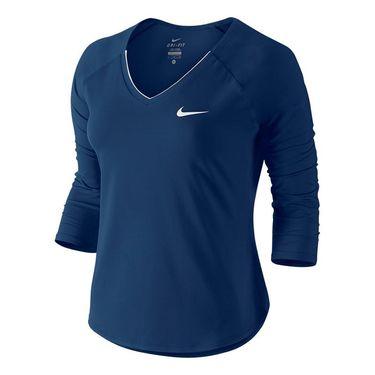 Nike Pure 3/4 Sleeve Top - Binary Blue