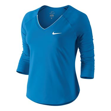 Nike Pure 3/4 Sleeve Top - Lite Photo Blue