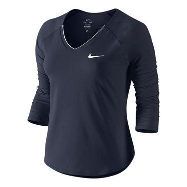 Nike Pure 3/4 Sleeve Top - Obsidian