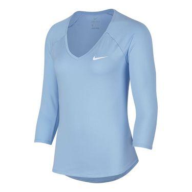 Nike Pure 3/4 Sleeve Top - Hydrogen Blue