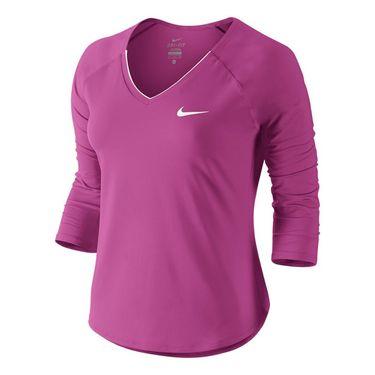 Nike Pure 3/4 Sleeve Top - Viola/White