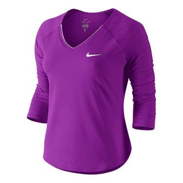 Nike Pure 3/4 Sleeve Top - Vivid Purple