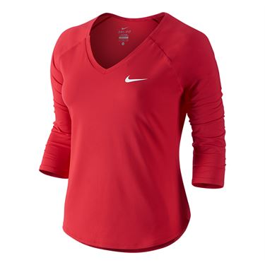 Nike Court Pure Tennis Top - Action Red