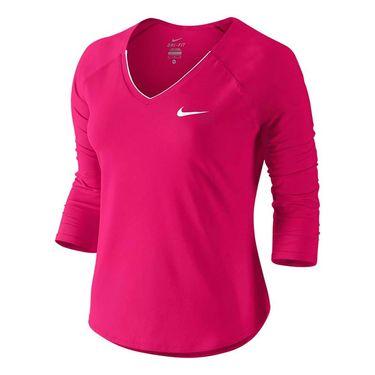 Nike Pure 3/4 Sleeve Top - Fuchsia Flux