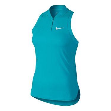 Nike Premier Advantage Sleeveless Polo - Omega Blue