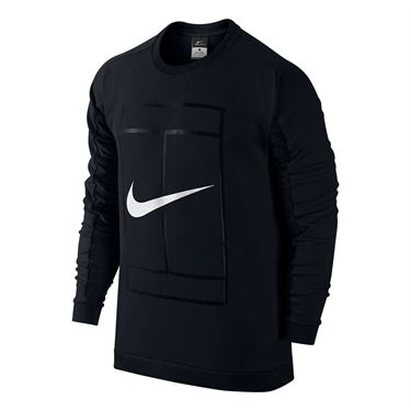 Nike Court Long Sleeve Crew - Black