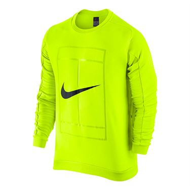 Nike Court Tennis Crew - Volt/Black