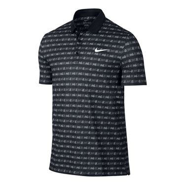 Nike Court Sphere Striped Polo - Black