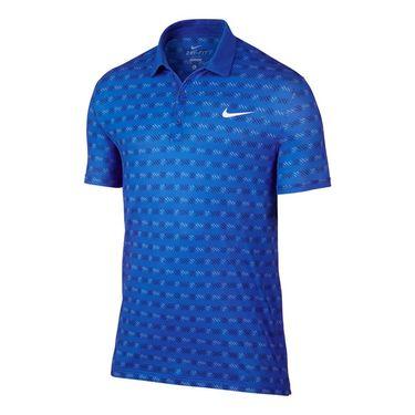 Nike Court Sphere Striped Polo - Hyper Cobalt