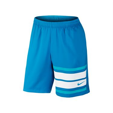 Nike Court Graphic 9 Inch Short - Heritage Cyan