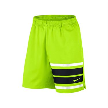 Nike Court Graphic 9 Inch Short - Volt/White