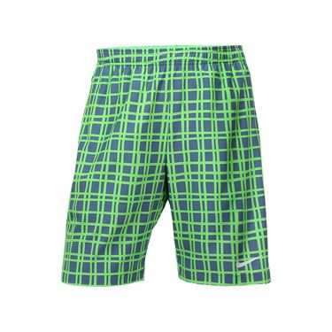 Nike Court Plaid 9 Inch Short - Voltage Green
