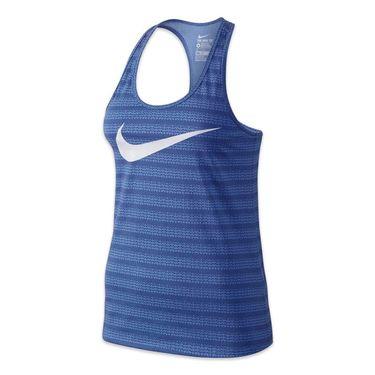 Nike Dri-Fit Print Swoosh Tank - Chalk Blue
