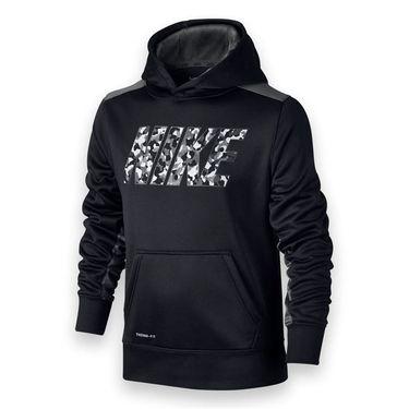 Nike Boys Knock Out 3.0 Read Hoodie - Black/Dark Grey