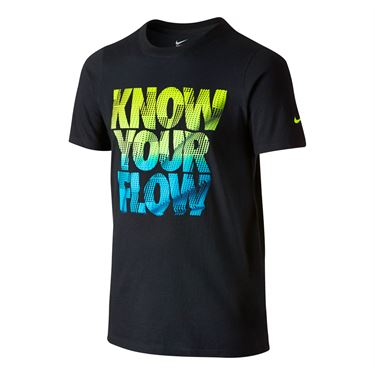 Nike Boys Know Your Flow T-Shirt - Black