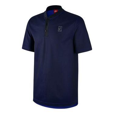 Nike Court Polo - Black/Deep Royal Blue