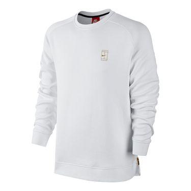Nike Court Fleece Crew - White