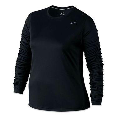 Nike Plus Size Long Sleeve Top - Black