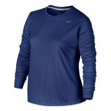 Nike Plus Size Miler Long Sleeve - Deep Royal Blue