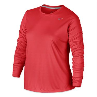 Nike Plus Size Miler Long Sleeve - Lite Crimson