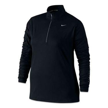 Nike Plus Size Element 1/2 Zip - Black