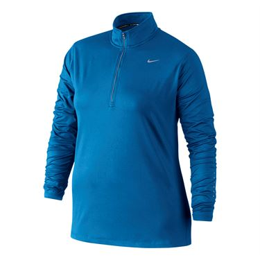 Nike Element 1/2 Zip Plus Size - Lite Photo Blue
