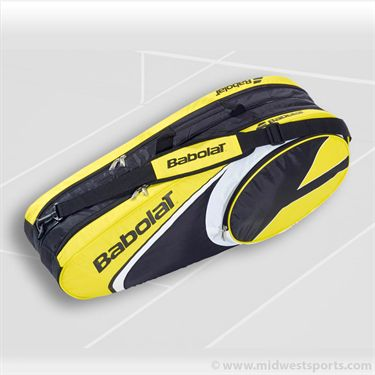 Babolat Club Line 6 Pack Yellow Tennis Bag