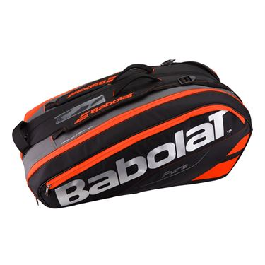 Babolat Pure Line 12 Pack Tennis Bag - Black/Fluo Red