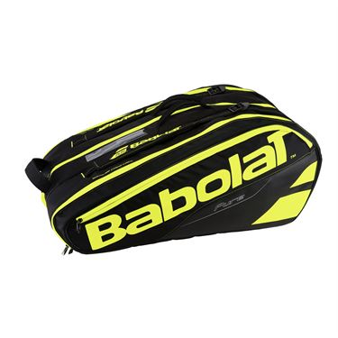 Babolat Pure Line 12 Pack Tennis Bag - Black/Fluo Yellow