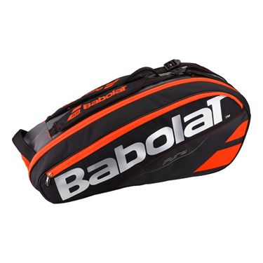 Babolat Pure Line 6 Pack Tennis Bag - Black/Fluo Red