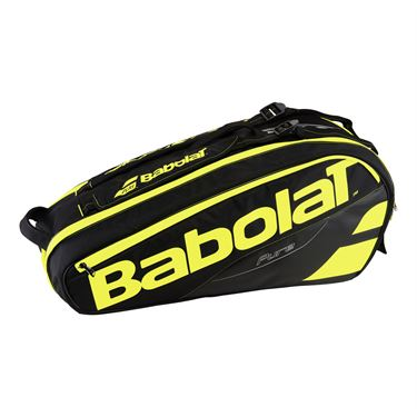 Babolat Pure Line 6 Pack Tennis Bag - Black/Fluo Yellow